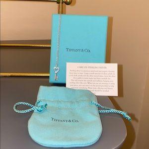 Tiffany Silver Heart Key Pendant
